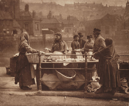 'A Whitby Fish Stall', c 1887.