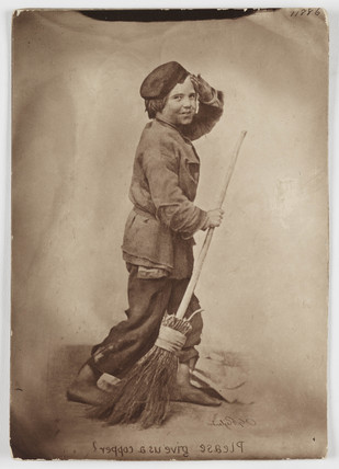 'Please Give us a Copper', c 1860s.