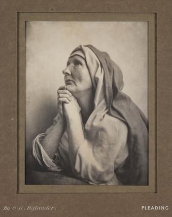 'Pleading', c 1860s.