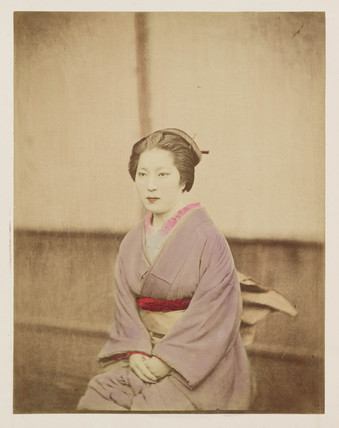 Japanese woman, c 1890.