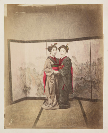 Two Japanese women, c 1890.