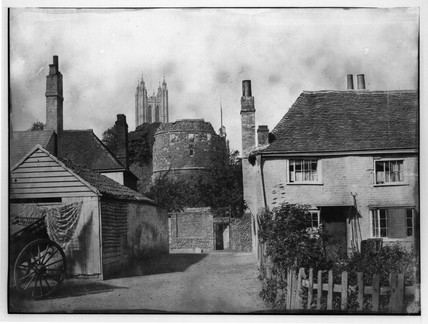 Canterbury Cathedral and St Augustine's Abbey, c 1859.