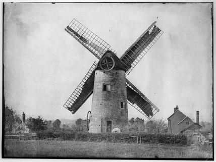 Windmill, Kempsey, Worcestershire, c 1853.
