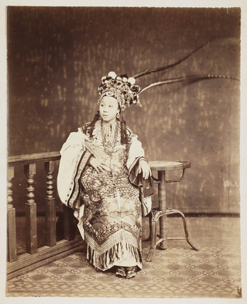 Chinese flower girl.
