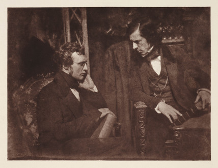 Dr Samuel Brown and the Reverend George Gilfillan, c 1840s.
