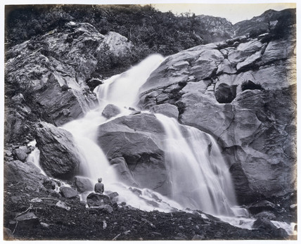Waterfall at Kulu, India, c 1866.