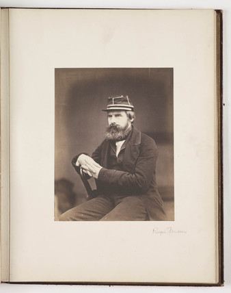 Portrait of photographer Roger Fenton, c 1856.