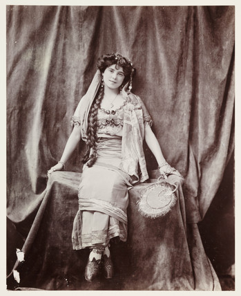 Edwardian portrait, woman in exotic costume.