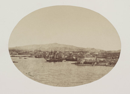 The Piraus [Port of Athens] with Acropolis in distance, 1849 to 1850.