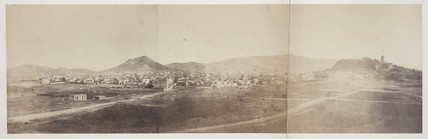 Panoramic view of Athens from the road to Piraus, 1849 to 1850.