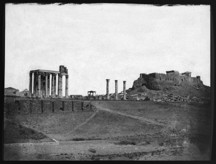 Temple of Jupiter and the Acropolis, Athens, 1851.