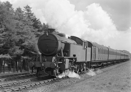 LNER Class L1 2-6-4T near Great Missenden, 22 April 1952.
