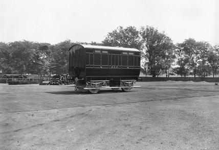 Midland Railway van number 2, one of four corpse vans built in 1888.