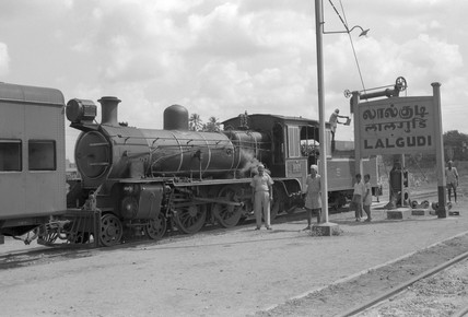 Nasmyth Wilson & Co loco of 1920, photographed at Lalgudi in 1969.
