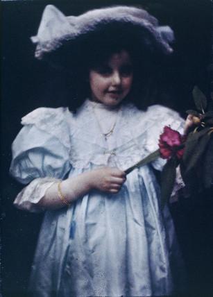 Girl in a white dress.