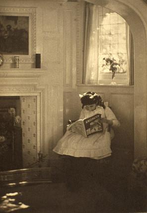The bookworm, c. 1911.