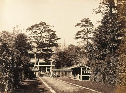 Entrance to Tozenji- British Legation at Edo (Tokyo), c.1877.