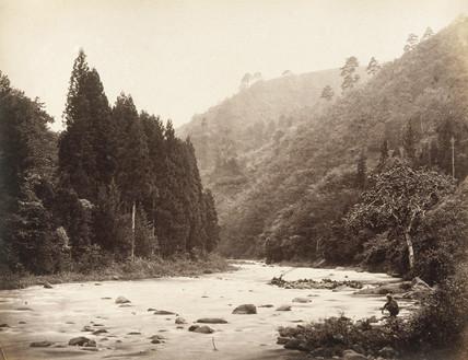 View at Mayonashi, Japan, c.1877.