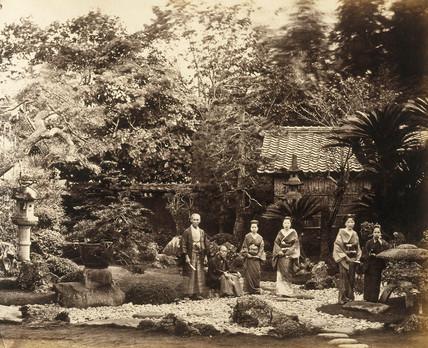 Garden at Hara, c.1877.