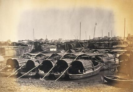 Chinese Sampans, Canton, c.1877.