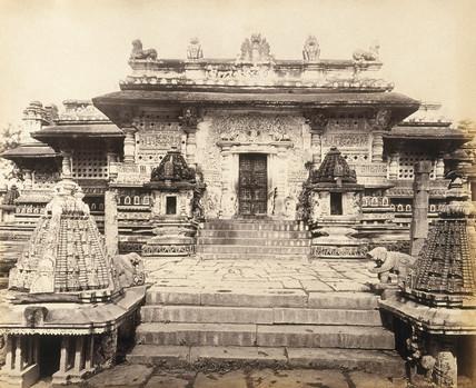 Bailoor Temple, Mysore, c.1877.