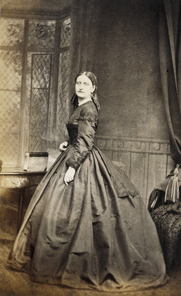Portrait of a woman taken from Wilcox Family Album.