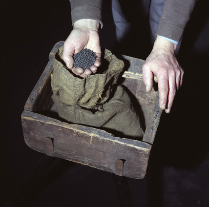 Lead shot and bullion box used in the Great Gold Robbery on 15th May 1855.