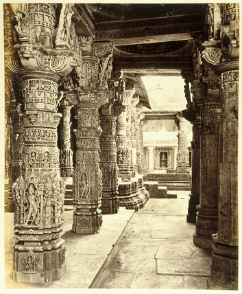 Interior of a Jain temple, India, 19th century.