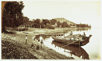 Sagain from the riverside, c 1876.