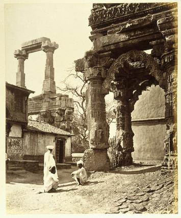 Ruins of the Rudra Mahalaya at Siddhpur, Gujarat, c 1860s.