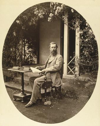 Portrait of Samuel Bourne, 1864.