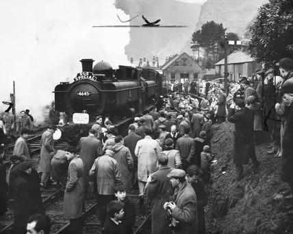 Last train from Ruabon to Blaenau Ffestiniog, Wales, January 1961.