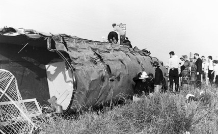 Rail accident, Waverton, Cheshire, 1971.