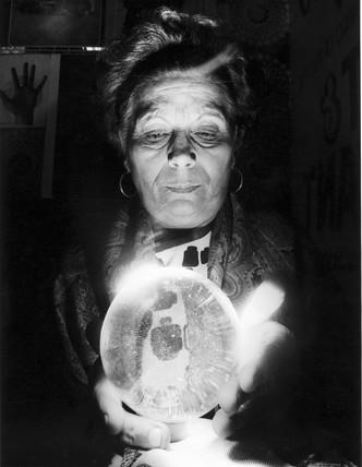 Carol Petulengro, Blackpool fortune-teller, 1976.