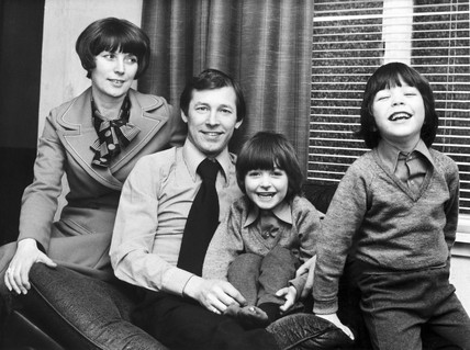Alex Ferguson and family, 1977.