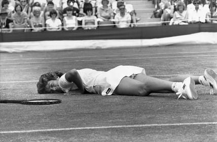 Virginia Wade, British tennis player, Wimbledon, 1983.