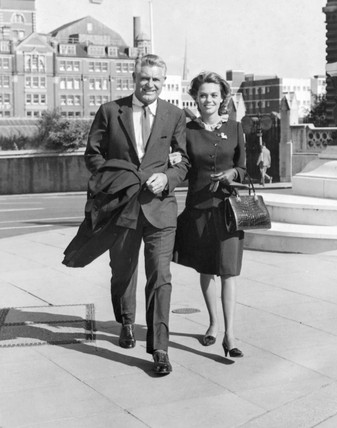 Cary Grant and Dyan Cannon, 1965.