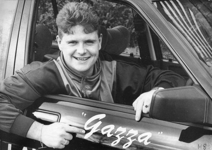Paul Gascoigne, British footballer, February 1988.