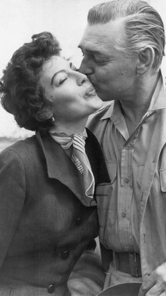 Clark Gable and Ava Gardner, 1959.