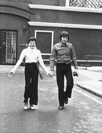 Judy Garland, American singer and actor, with husband Micky Deans, 1969.