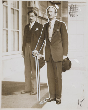 Lord Londonderry and Anthony Eden in Paris, 8 June 1933.
