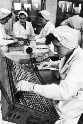 Penicillin manufacture, Liverpool, 1954.