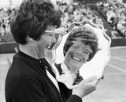 Billie Jean King wins the Northern lawn tennis tournament, 1966.
