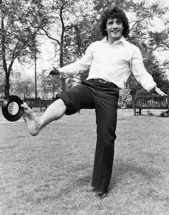 British footballer Kevin Keegan launches a record, 1979.