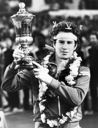 John McEnroe, American tennis player, 1980.