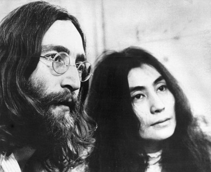 John Lennon and Yoko Ono, c 1970s.