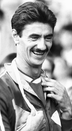 Ian Rush, British footballer, October 1988.