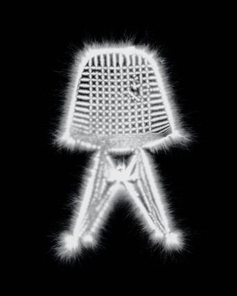 Kirlian photograph of a chair.