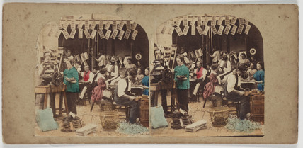 Stereo image by Marc Antoine Gaudin c, 1860.