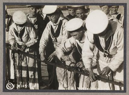 'Tying Knots', c 1916.